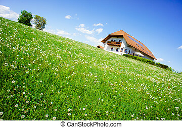 Family house in the country summer taken in austria