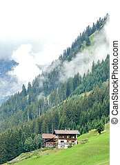 house in the mountains, beautiful photo digital picture