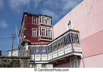 House in the old town of Porto, Portugal