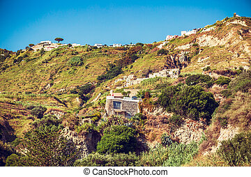 house in the rock on the island of Ischia
