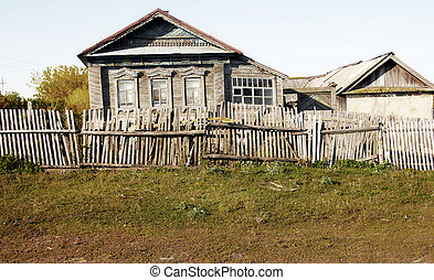 House in the Russian village.