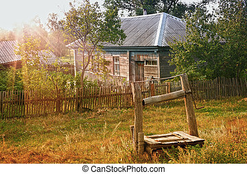 house in the Russian village