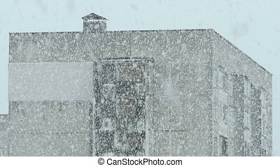House in the snowstorm