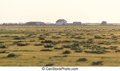 house in the steppes of Kazakhstan