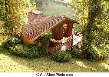 A house in the woods of Rio de Janeiro, Brazil.