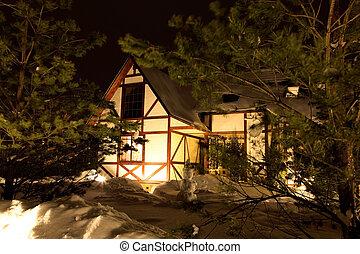 house in winter season
