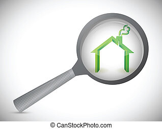 house inspection illustration design over a white background