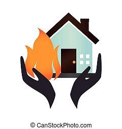 house insurance icon emblem