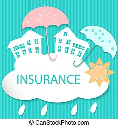 House insurance - Vector modern illustration of house...