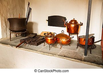 House interior at Norsk Folkemuseum - Traditional old house...