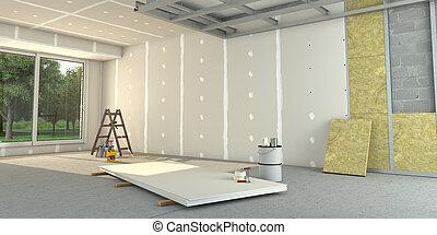 House interior construction