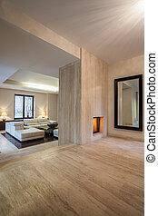 house:, interior, travertine