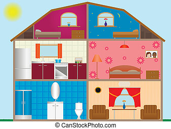 House interior - Vector illustration of a house interior....