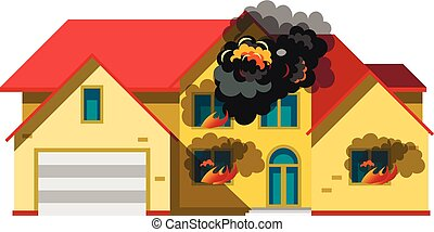 house is insulated on fire