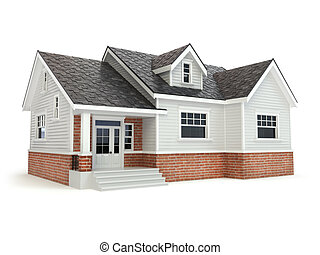 House isolated on white. Real estate concept.