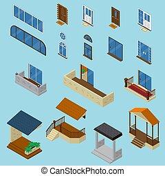 House Isometric Constructor Set - Isometric house...