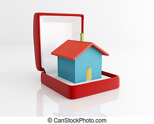 house Jewerly box - concept of precious house as a jewel...
