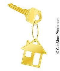 house key door lock illustration