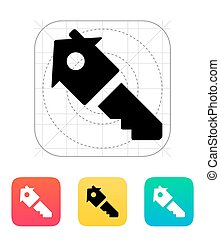 House key icon. Vector illustration.