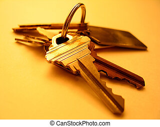 House Key - Warm tones. Focus on key in the front.