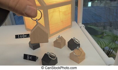 House keyfobs and lantern for sale - HELSINKI, FINLAND -...