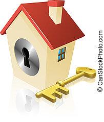 House keyhole key concept
