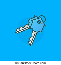 House keys colorful sign