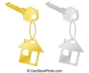 house keys door lock illustration