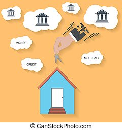 house keys in hand - mortgage concept