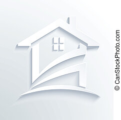 House Label Check Logo Vector