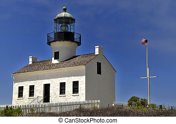 House light at Cabrillo Point, San Diego, California