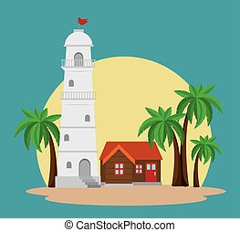 house light tower icon