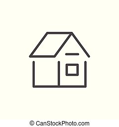 House line icon isolated on white. Vector illustration