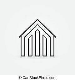 House linear icon - vector concept property symbol or logo...