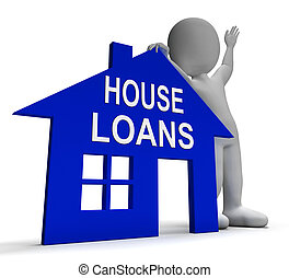 House Loans Home Shows Borrowing Repayments And Interest -...