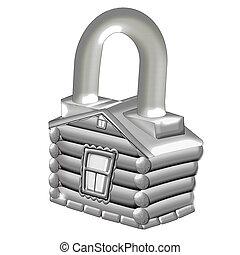 House. Lock.