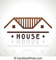 House logo template. Real estate design concept