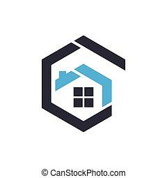House logo vector icon