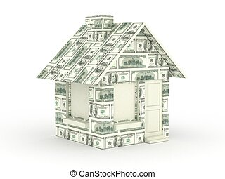 House made with Hundred Dollar Bill