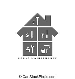 House maintenance concept