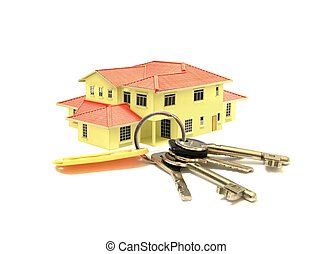House Model and a Bunch of Keys