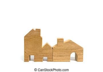 House model isolated on white background