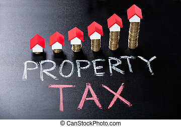 Property Tax Concept On Blackboard