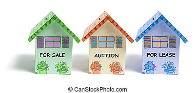 House Money Box on White Background