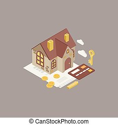 House Mortgage Vector Illustration