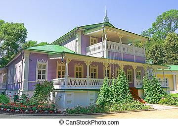 house-museum in the estate Spassky-Lutovinovo. Russia.