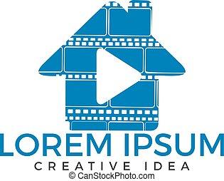 House music logo design.