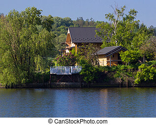 house near the river - Beautiful wooden house near the river...