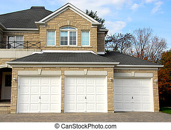 House - New detached single family luxury home with stone...