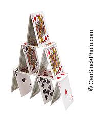 house of cards on white isolated